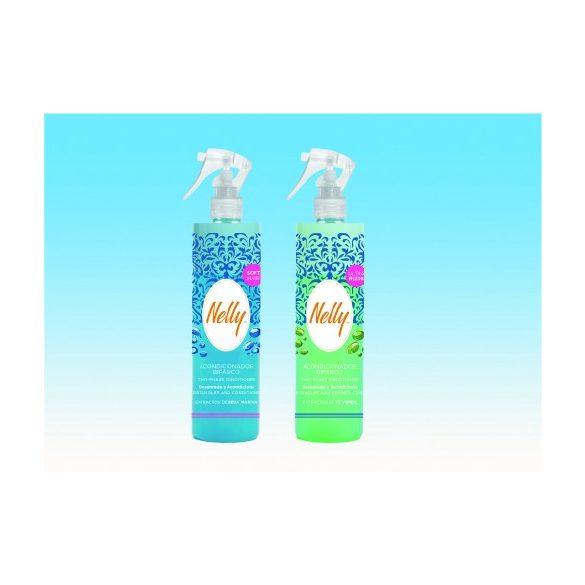Nelly instant kétfázisú kondicionáló hajfényspray göndör hajra (zöld) 400 ml