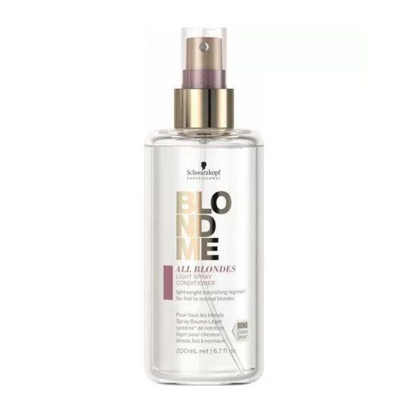 Schwarzkopf Blondme Light spray balzsam minden szőke hajra 200 ml