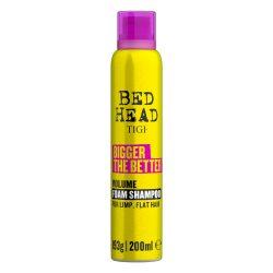 TIGI Bed Head Bigger The Better volumennövelő hab sampon 200 ml