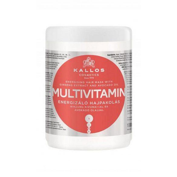 Kallos KJMN Multivitamin Energizáló Hajpakolás 1000 ml