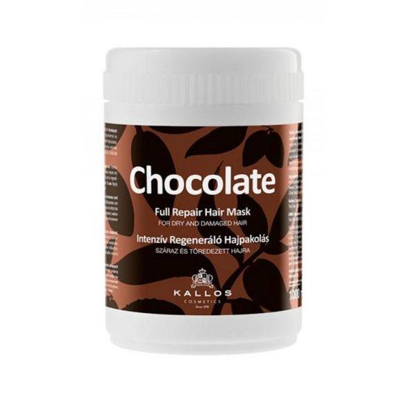 Kallos Csokoládé Intenziv Regeneráló Hajpakolás 1000 ml