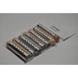 Hajcsavaró gombos fém lukas 15mm 7db-os