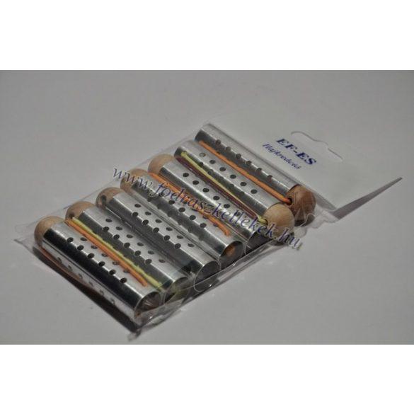 Hajcsavaró gombos fém lyukas 15mm 7db-os
