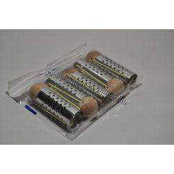 Hajcsavaró gombos fém lukas 25mm 5db-os