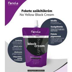 Fanola No Yellow Black Cream fekete szőkítőkrém 500 g