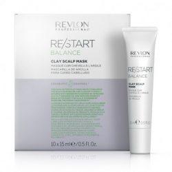 Revlon Re/Start Balance Fejbőrmaszk Természetes Agyaggal Zsíros hajra 10x15 ml
