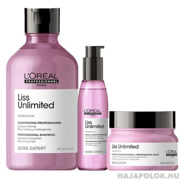 L'Oréal Série Expert Liss Unlimited hajkiegyenesítő pakolás 250 ml