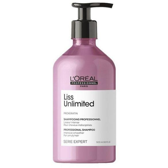 L'Oréal Série Expert Liss Unlimited hajkiegyenesítő sampon 500 ml
