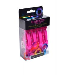 Framar hajcsipesz gumírozott fogas 4db fekete,pink