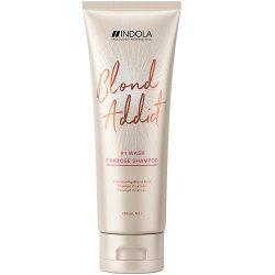 Indola Blond Addict PinkRose Shampoo pasztell szőke hajtípusra 250 ml