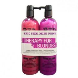 TIGI BED HEAD Dumb Blonde Duo Sampon+Kondi 2x750ml