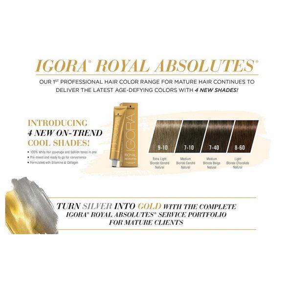 Schwarzkopf Igora Royal Absolutes krémhajfesték ősz hajra 60 ml